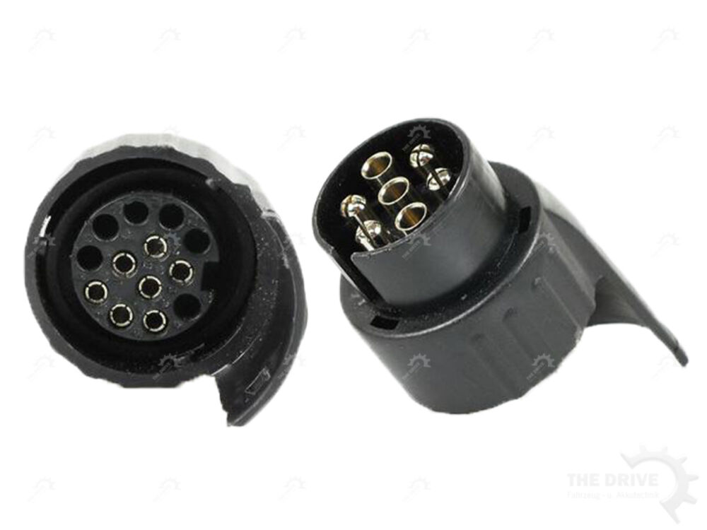 Anhängerkupplung Zugvorrichtung Adapter 7//13-polig KUNSTSTOFF KURZ