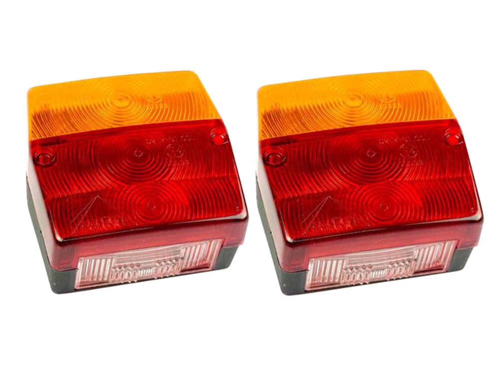 Original Aspöck 3-Kammer Leuchte 2x Minipoint Anhänger Rücklicht Bajonett