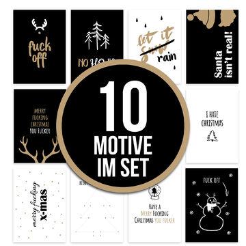 10 Anti Weihnachtskarten Lustige Motive Postkarte ...