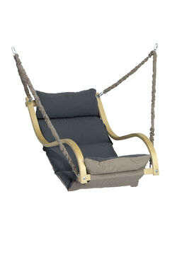 AMAZONAS Fat Chair Hängesessel anthrazit grau Hängesitz Hängestuhl innen außen