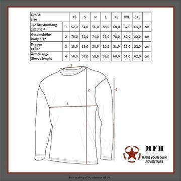 MFH US Tarn-Shirt langarm CZ tarn Sweatshirt Pullover Herren Outdoor Trekking
