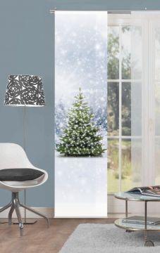 schiebevorhang deko blickdicht weihnachtsbaum gr e bxh. Black Bedroom Furniture Sets. Home Design Ideas