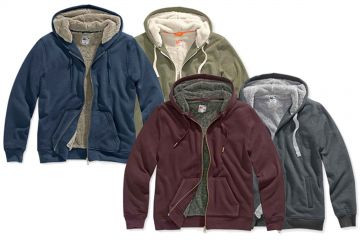 low priced 2b6d7 dd226 Details zu Watsons® Herren Outdoor Sweatjacke Jacke Felljacke Kapuzenjacke  stylischer Look