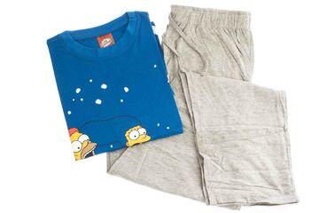 Damen kurzer Pyjama Tshirt mit Hotpants Schlafanzug Nachtwäsche Pyjama-Set M X