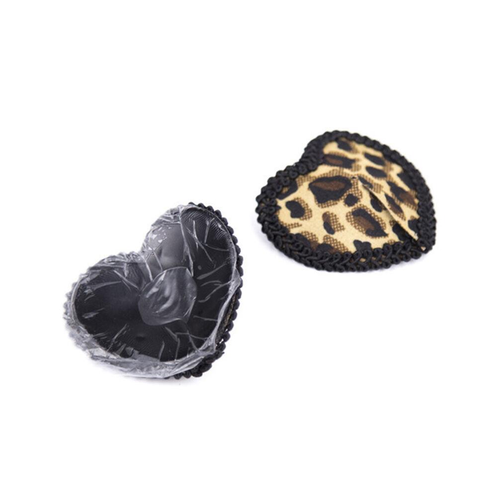 Nippelcover Herz Pasties Leopard Quaste selbstklebend Nippelschmuck #S45