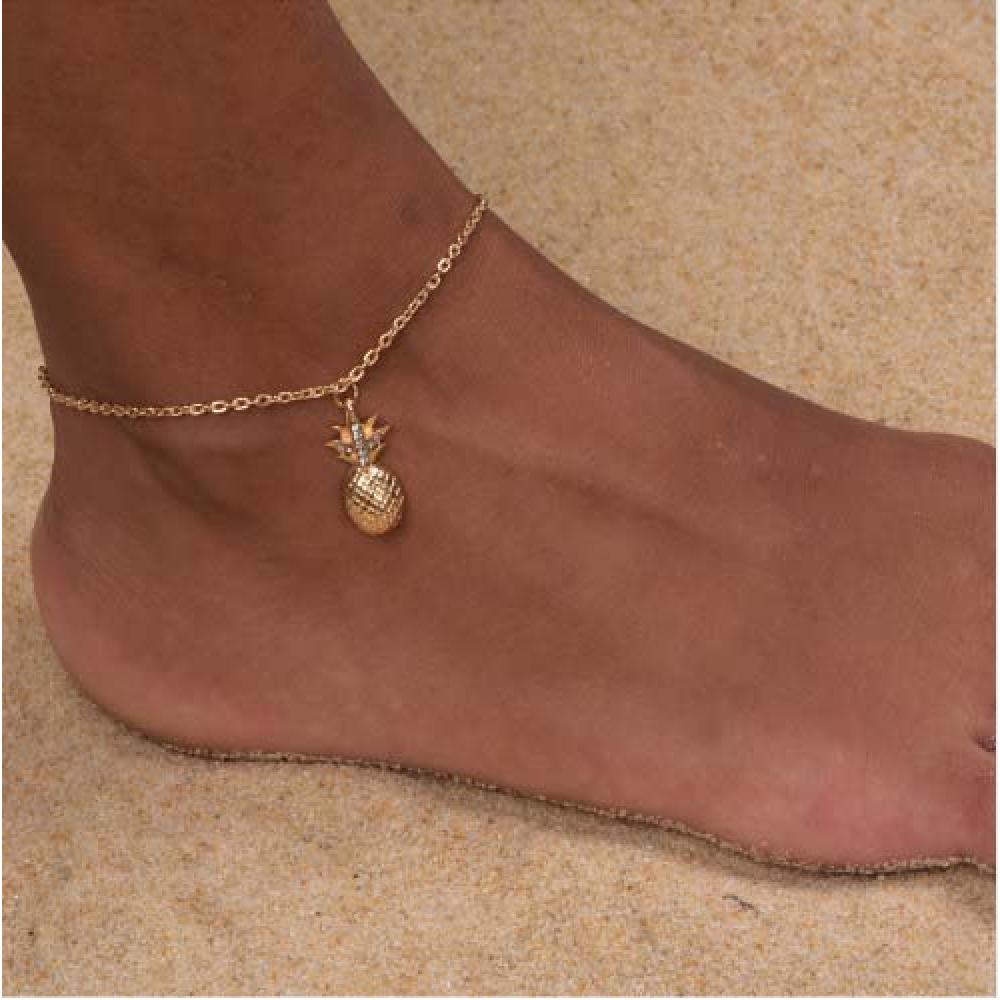 Multilayer Crystal Fußkettchen Fußkette Sommer Charm Fußkettchen Schmuck Y WGSP