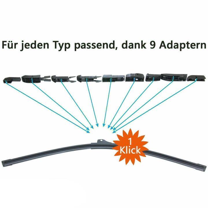 NH Trades-Best Front Scheibenwischer Set Satz Premium f/ür Rapid Rapid Spaceback ab 2012