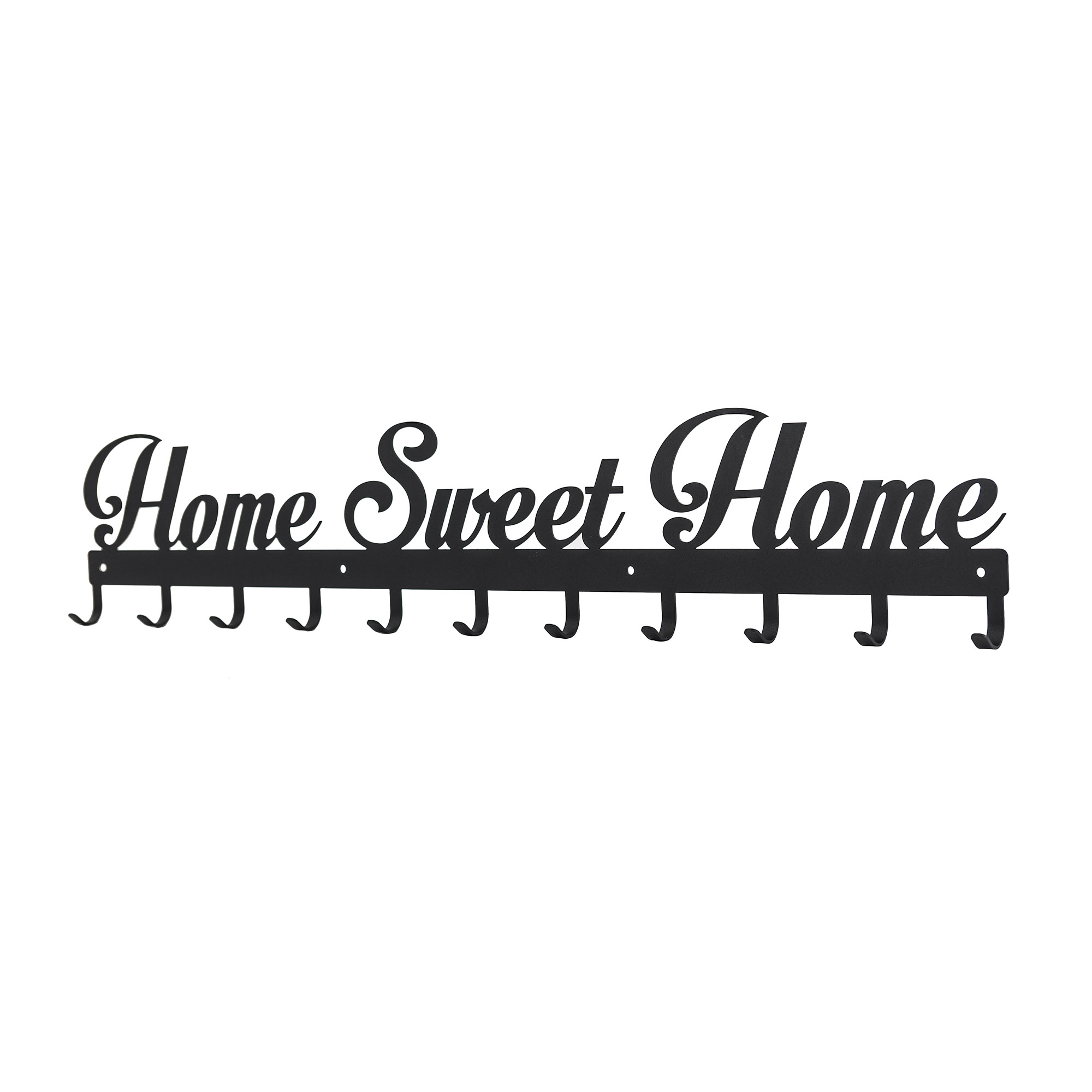 Kleiderhaken Home Sweet Home 80 Breit Garderobe Hakenleiste Edelstahl Schlüssel