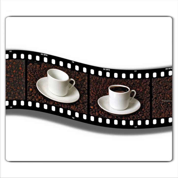 Ceranfeldabdeckung Herdabdeckplatten Spritzschutz Glas Kaffee 60x52 cm