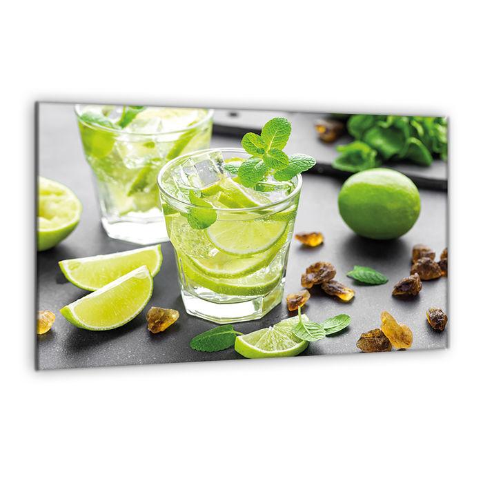 Ceranfeldabdeckung Herdabdeckplatten Spritzschutz Glas Cocktail Beige 2x30x52 cm