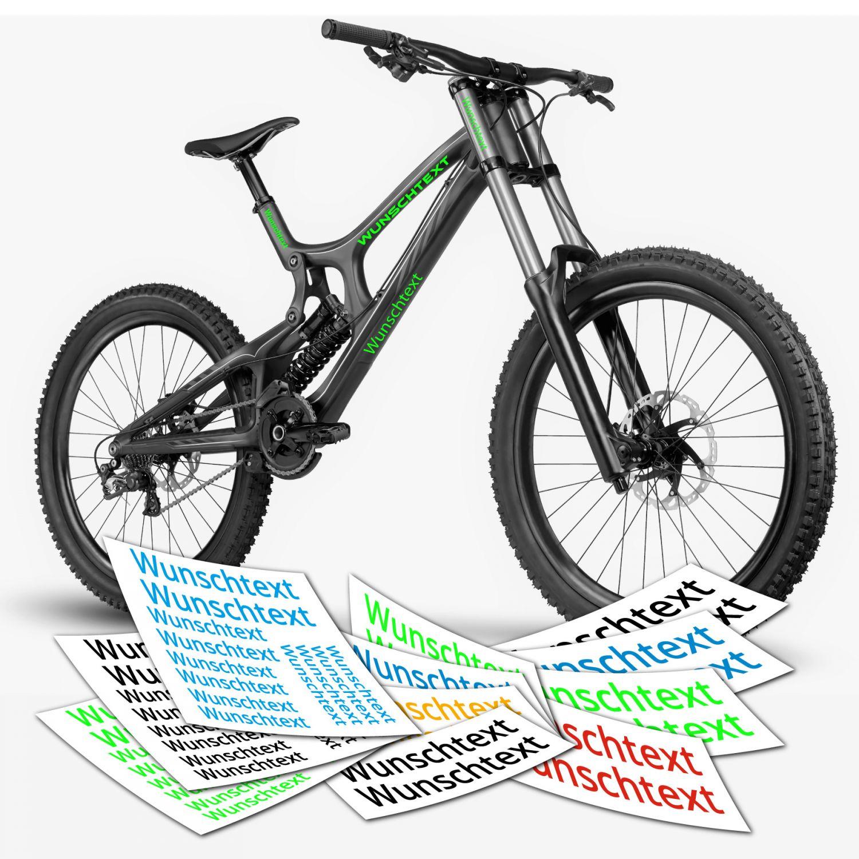 Aufkleber Wunschtext Beschriftung Text Rahmen Fahrrad | TOP ...