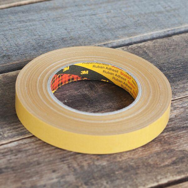 Doppelseitiges Gewebeklebeband 3M 9525 Montageband Teppichband Messe 19mm x 25m