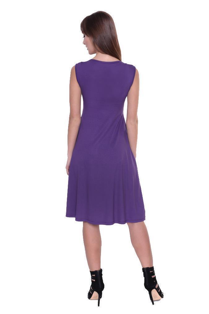Kleid-A-Linie-MAMA-Knielang-mit-Raffungen-mit-Taschen-V-Ausschnitt Indexbild 14