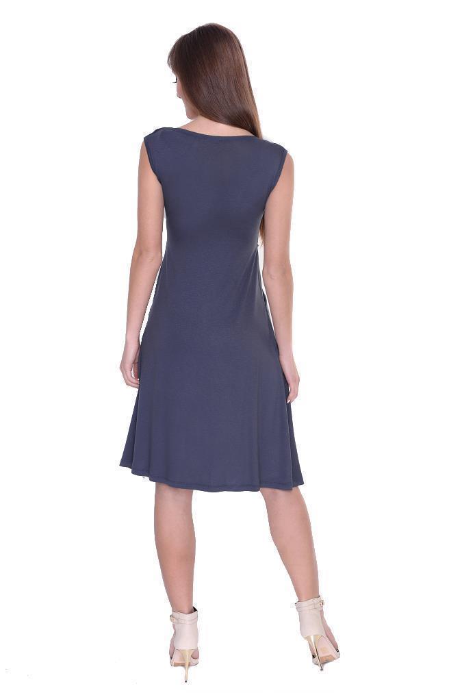 Kleid-A-Linie-MAMA-Knielang-mit-Raffungen-mit-Taschen-V-Ausschnitt Indexbild 38