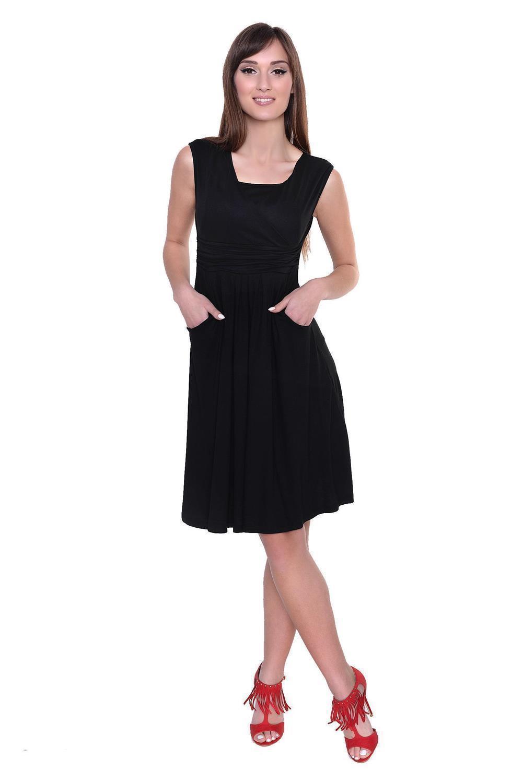 Kleid-A-Linie-MAMA-Knielang-mit-Raffungen-mit-Taschen-V-Ausschnitt Indexbild 32