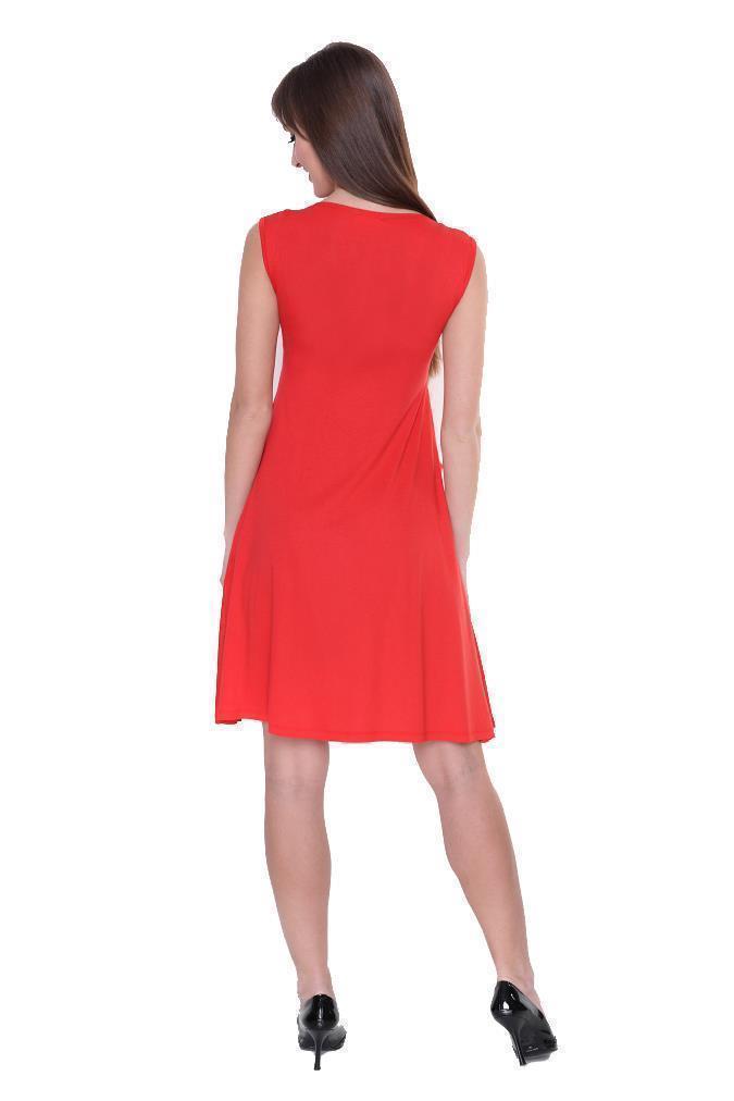 Kleid-A-Linie-MAMA-Knielang-mit-Raffungen-mit-Taschen-V-Ausschnitt Indexbild 35