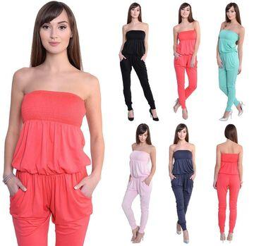 Donna Jumpsuits bandeau Overall 6//8 tg S M L XL 2xl 3xl