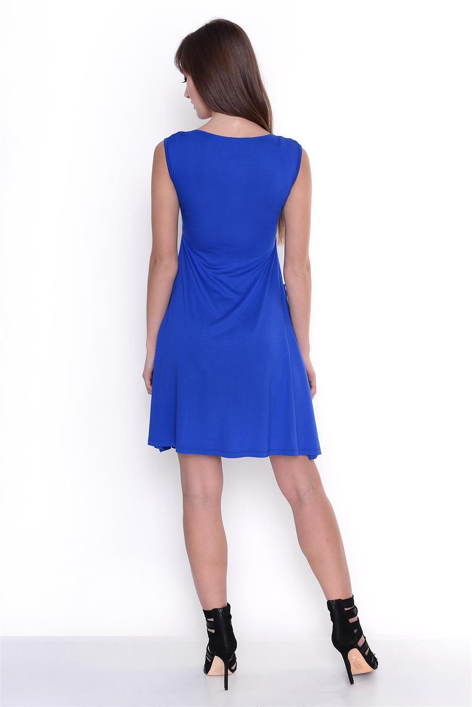 Kleid-A-Linie-MAMA-Knielang-mit-Raffungen-mit-Taschen-V-Ausschnitt Indexbild 27