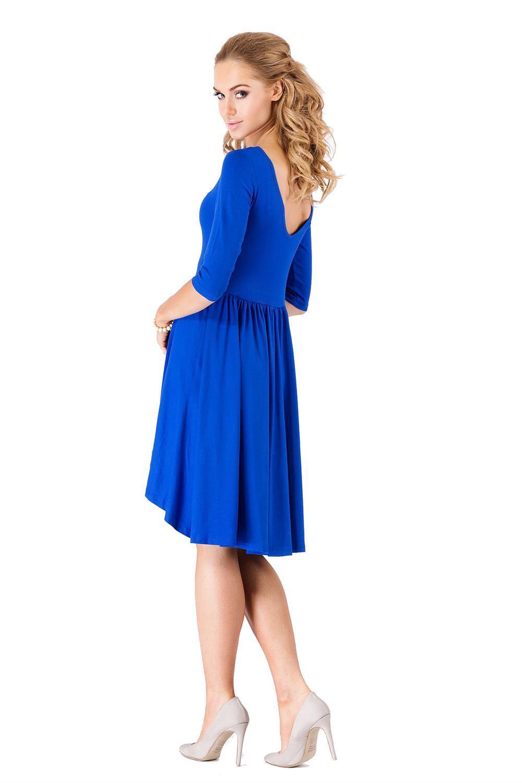 Minikleid Asymetrisch Top Kleid 3/4 Arm Gr. S M L XL XXL ...
