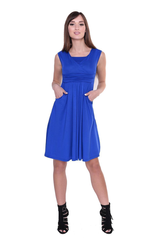 Kleid-A-Linie-MAMA-Knielang-mit-Raffungen-mit-Taschen-V-Ausschnitt Indexbild 28