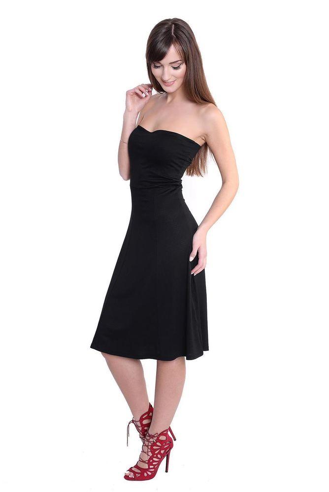 Bandeau Sommer Kleid Lang Maxi Kleid Strandkleid Gr. 36 38 ...