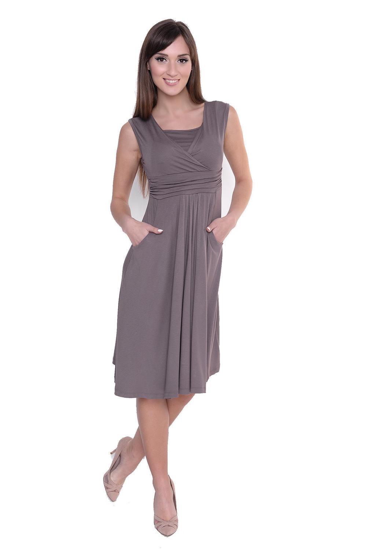 Kleid-A-Linie-MAMA-Knielang-mit-Raffungen-mit-Taschen-V-Ausschnitt Indexbild 24