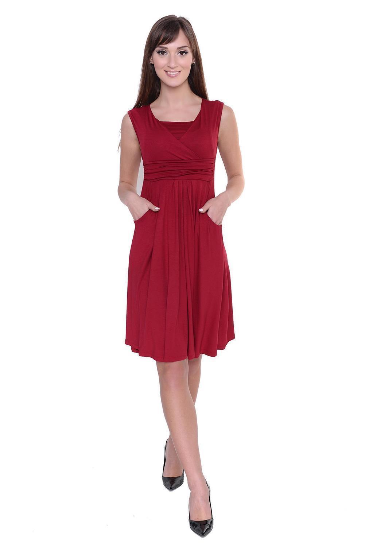 Kleid-A-Linie-MAMA-Knielang-mit-Raffungen-mit-Taschen-V-Ausschnitt Indexbild 20
