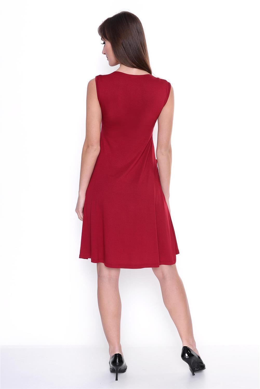 Kleid-A-Linie-MAMA-Knielang-mit-Raffungen-mit-Taschen-V-Ausschnitt Indexbild 19