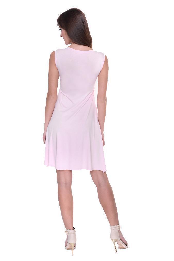 Kleid-A-Linie-MAMA-Knielang-mit-Raffungen-mit-Taschen-V-Ausschnitt Indexbild 42