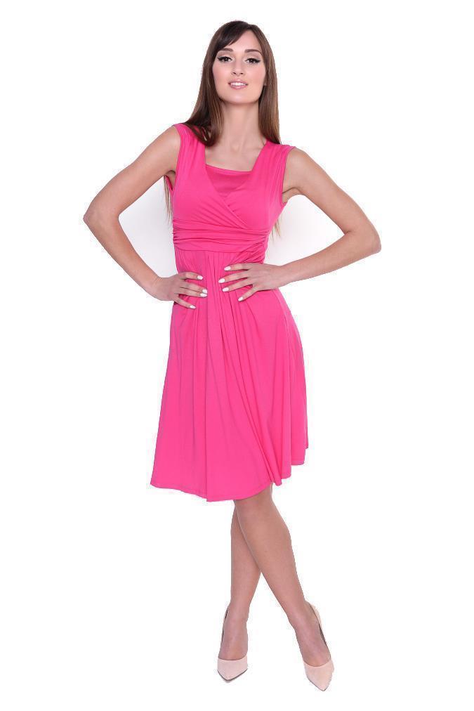 Kleid-A-Linie-MAMA-Knielang-mit-Raffungen-mit-Taschen-V-Ausschnitt Indexbild 47