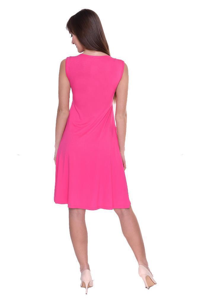 Kleid-A-Linie-MAMA-Knielang-mit-Raffungen-mit-Taschen-V-Ausschnitt Indexbild 45