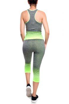 Damen ZweiteilerTrainingsanzug Sportset Hausanzug Top+Leggings Running Sparpac
