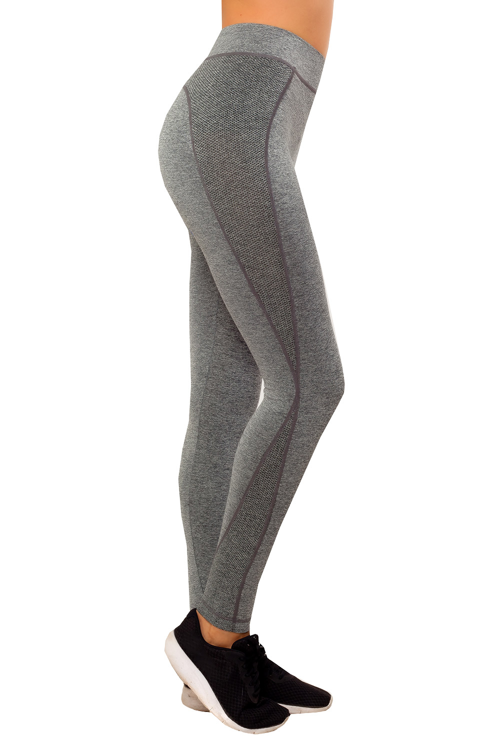 Damen Tights Sportleggings Funktionstights Laufhose Sporthose Melange Fitness