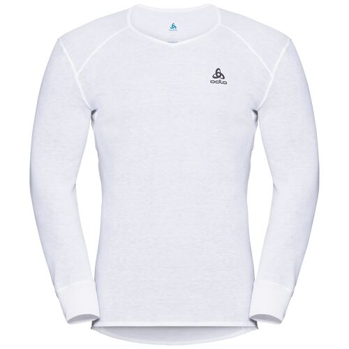 Details about ODLO Originals Warm Function Shirt, Long Sleeved Shirt With V Neck, White show original title