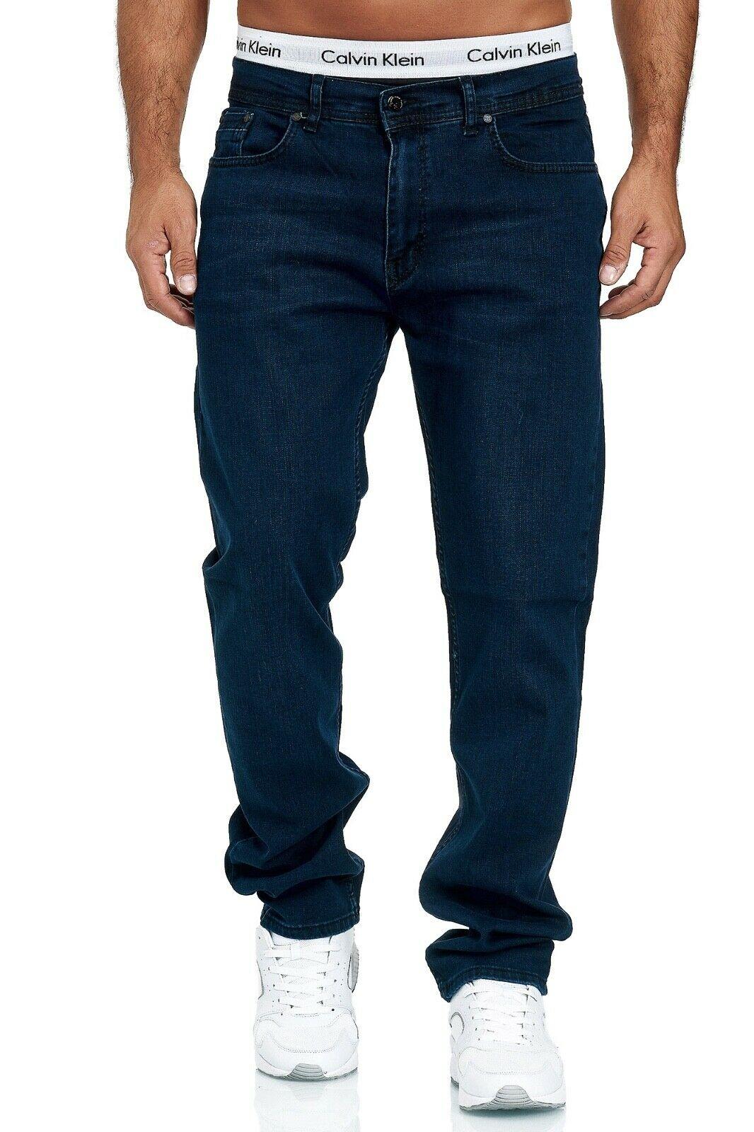 Herren-Jeans-Hose-Denim-KC-Black-Washed-Straight-Cut-Regular-Dicke-Naht-naehte Indexbild 41