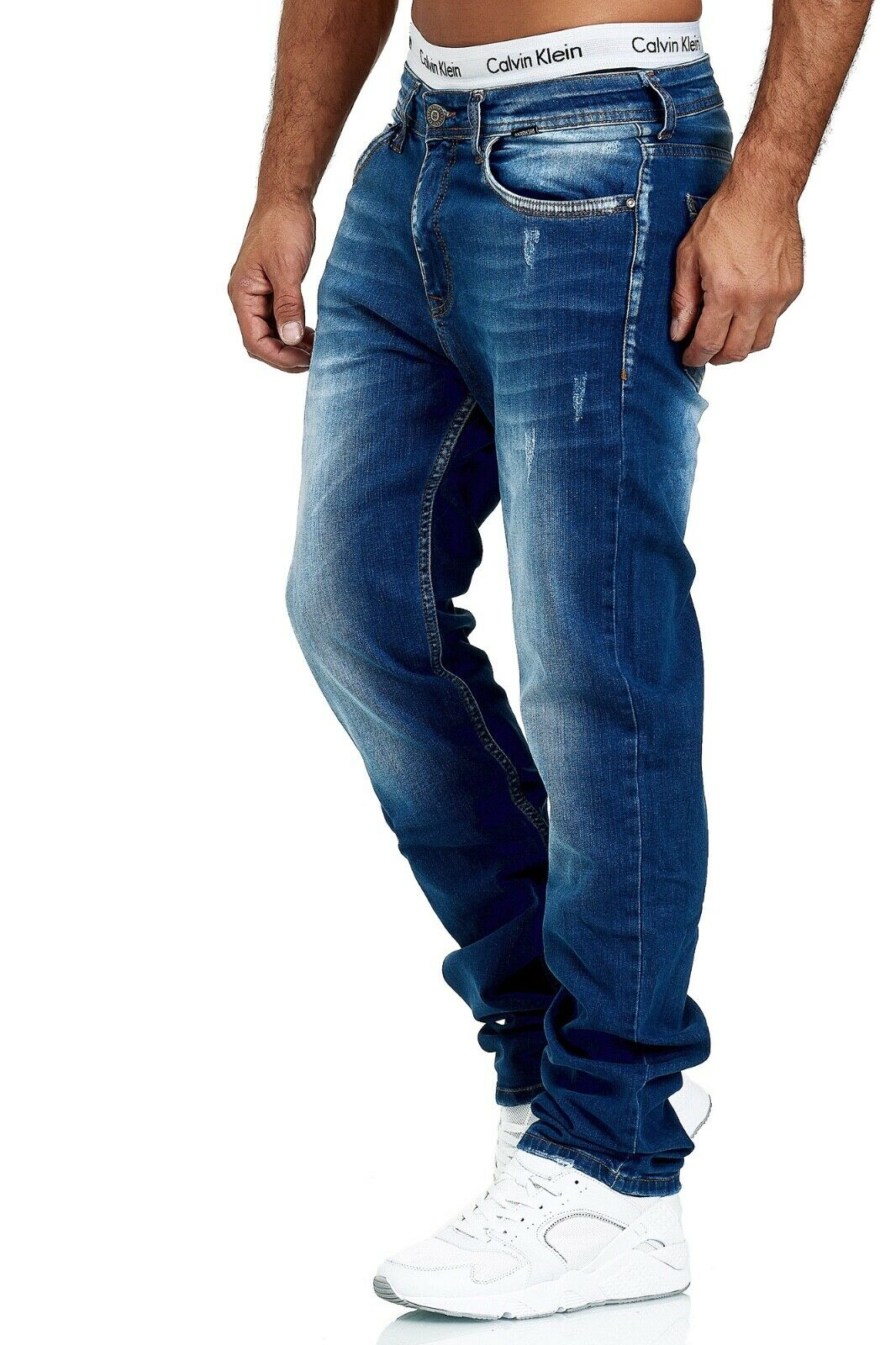 Herren-Jeans-Hose-Denim-KC-Black-Washed-Straight-Cut-Regular-Dicke-Naht-naehte Indexbild 37