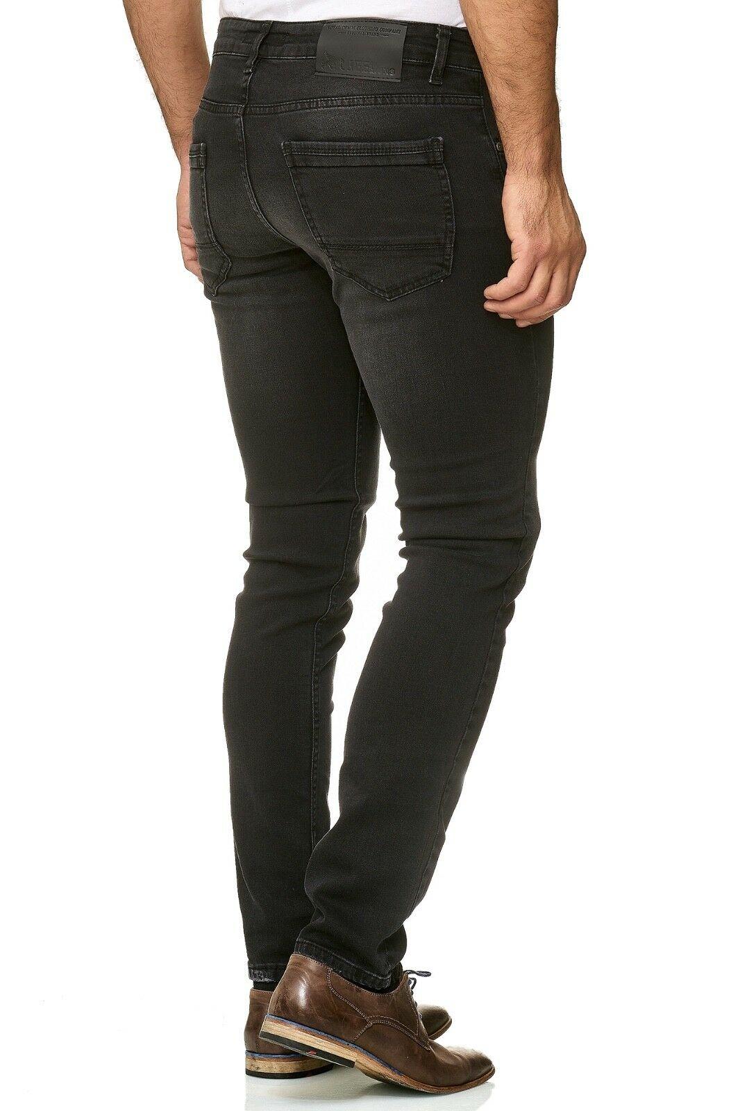 Herren-Jeanshosen-Stretch-Hose-Slim-fit-SKINNY-Jeans-Blau-Schwarz-Grau-Weiss Indexbild 51
