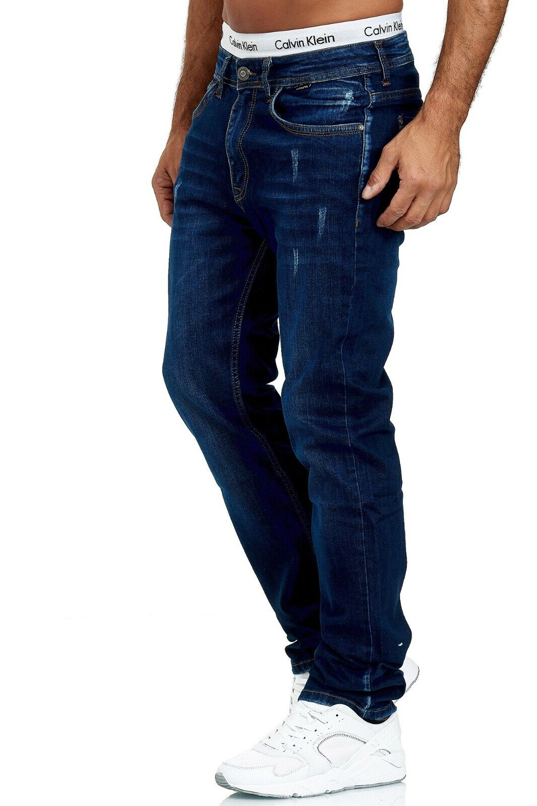 Herren-Jeans-Hose-Denim-KC-Black-Washed-Straight-Cut-Regular-Dicke-Naht-naehte Indexbild 67