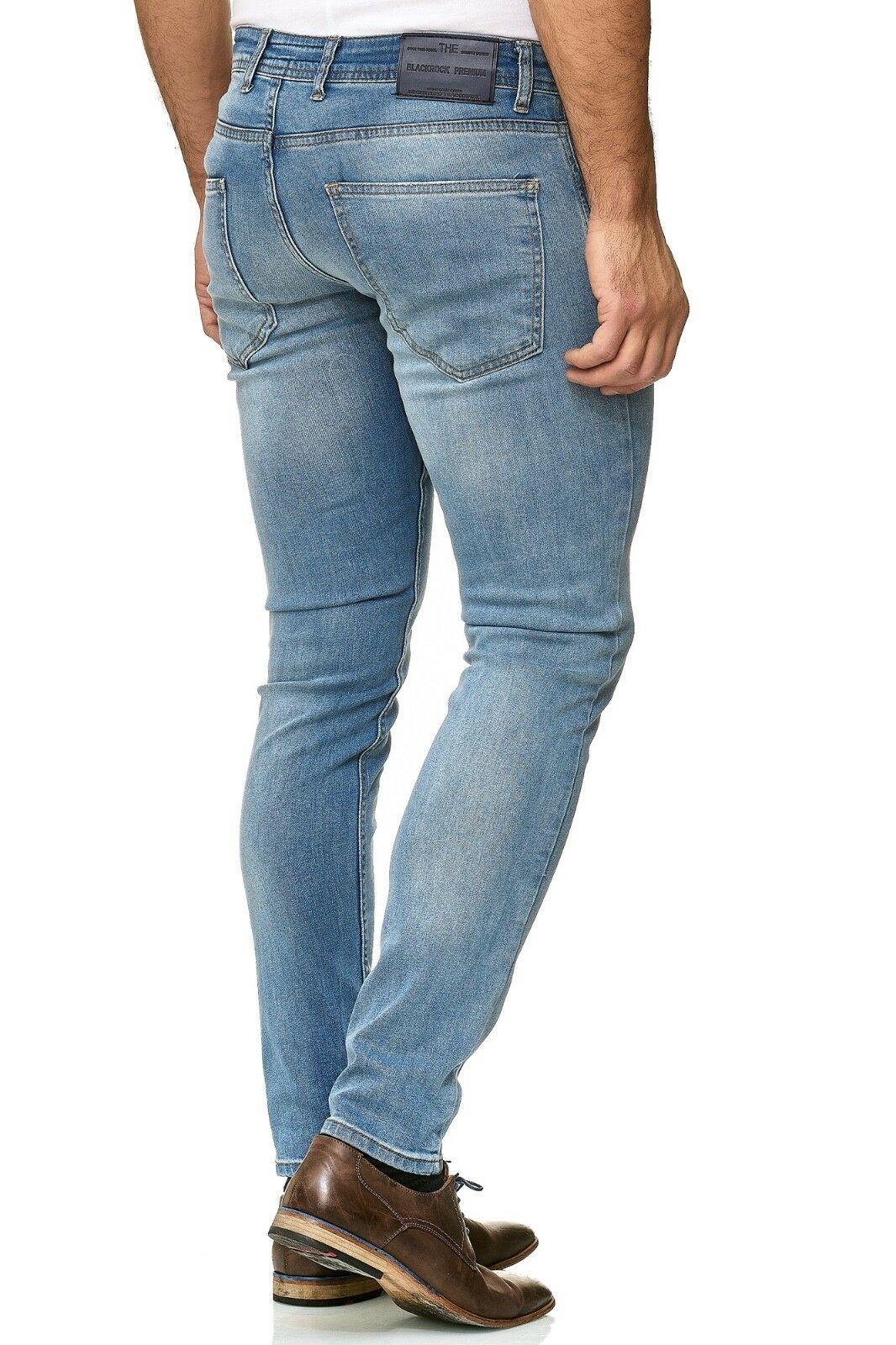 Herren-Jeanshosen-Stretch-Hose-Slim-fit-SKINNY-Jeans-Blau-Schwarz-Grau-Weiss Indexbild 47