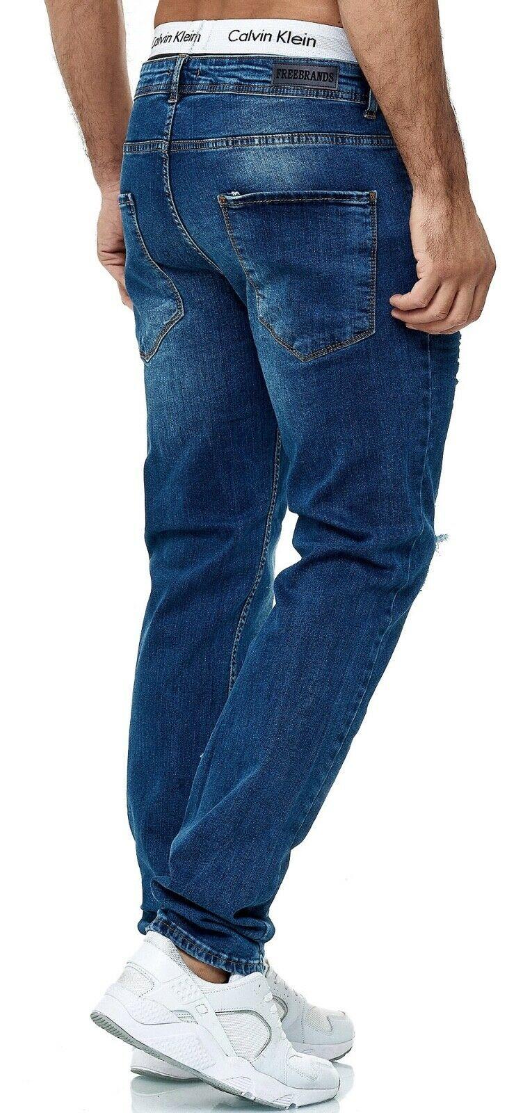 Herren-Jeanshosen-Stretch-Hose-Slim-fit-SKINNY-Jeans-Blau-Schwarz-Grau-Weiss Indexbild 73