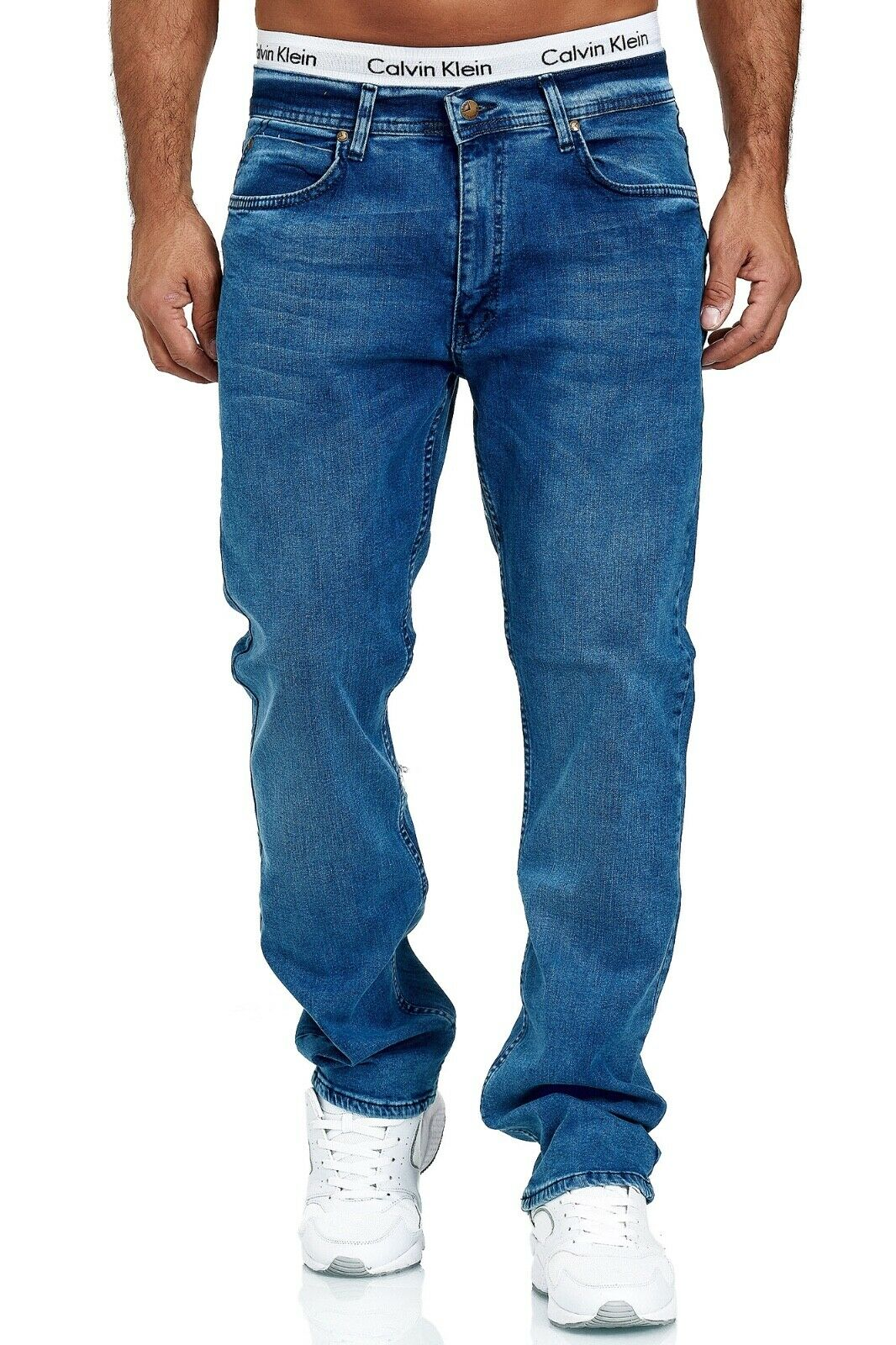 Herren-Jeans-Hose-Denim-KC-Black-Washed-Straight-Cut-Regular-Dicke-Naht-naehte Indexbild 61