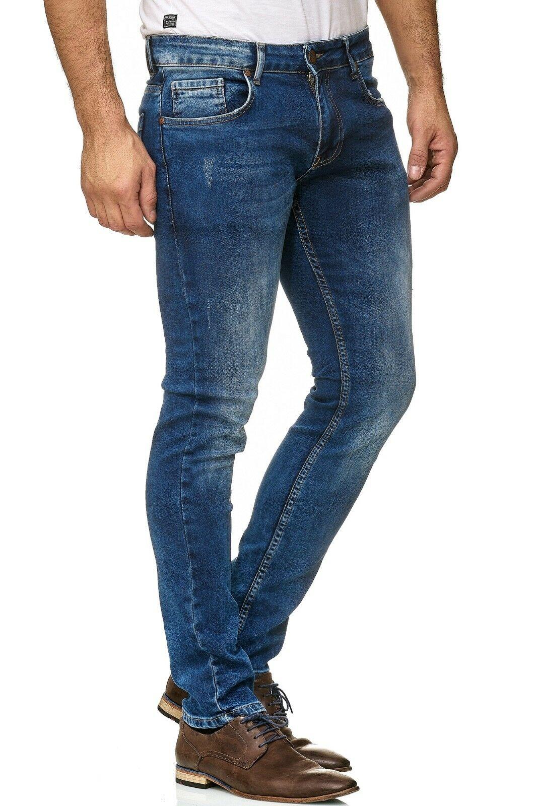 Herren-Jeanshosen-Stretch-Hose-Slim-fit-SKINNY-Jeans-Blau-Schwarz-Grau-Weiss Indexbild 43