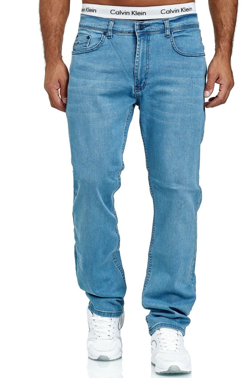 Herren-Jeans-Hose-Denim-KC-Black-Washed-Straight-Cut-Regular-Dicke-Naht-naehte Indexbild 71