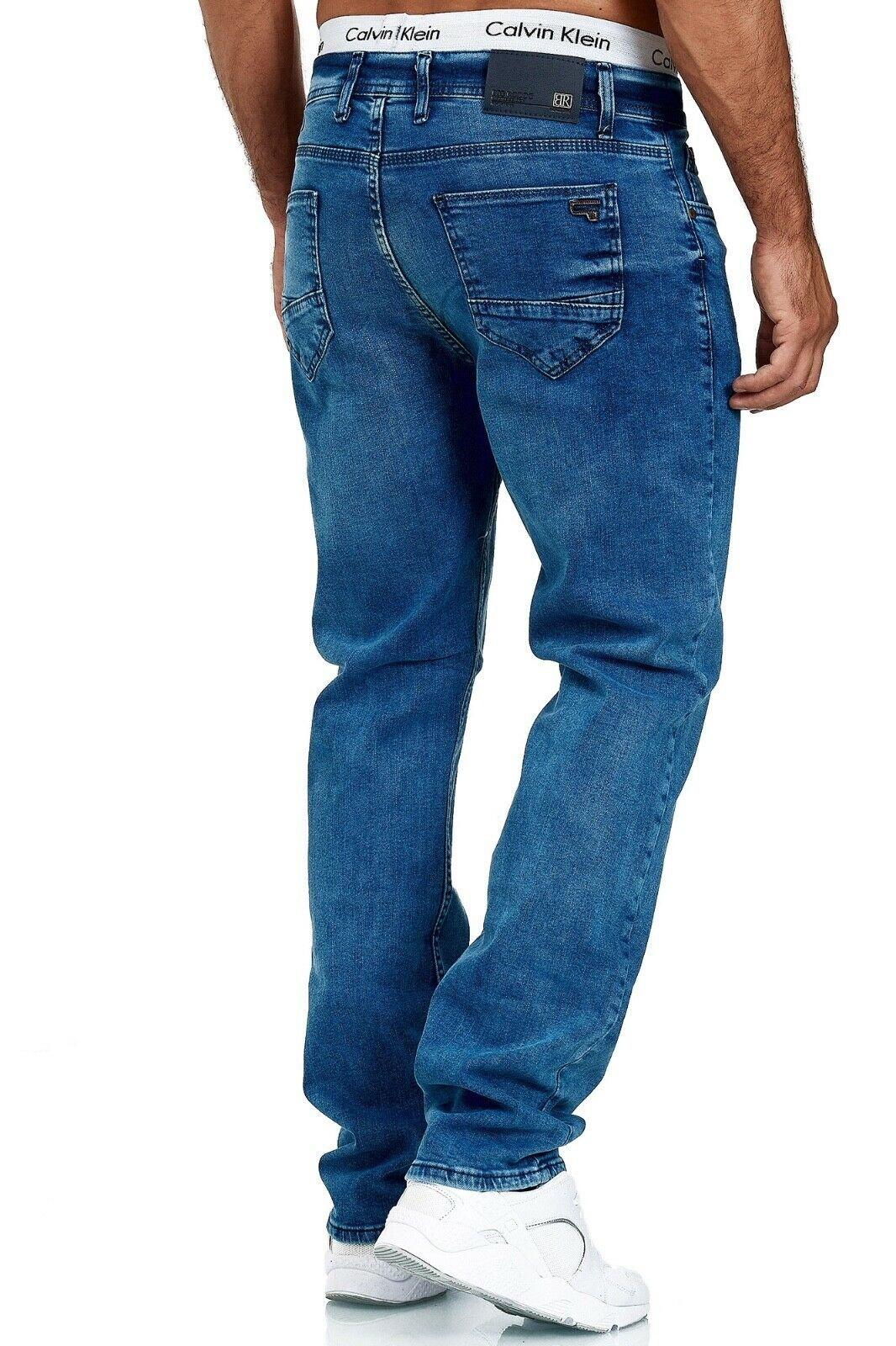 Herren-Jeans-Hose-Denim-KC-Black-Washed-Straight-Cut-Regular-Dicke-Naht-naehte Indexbild 64