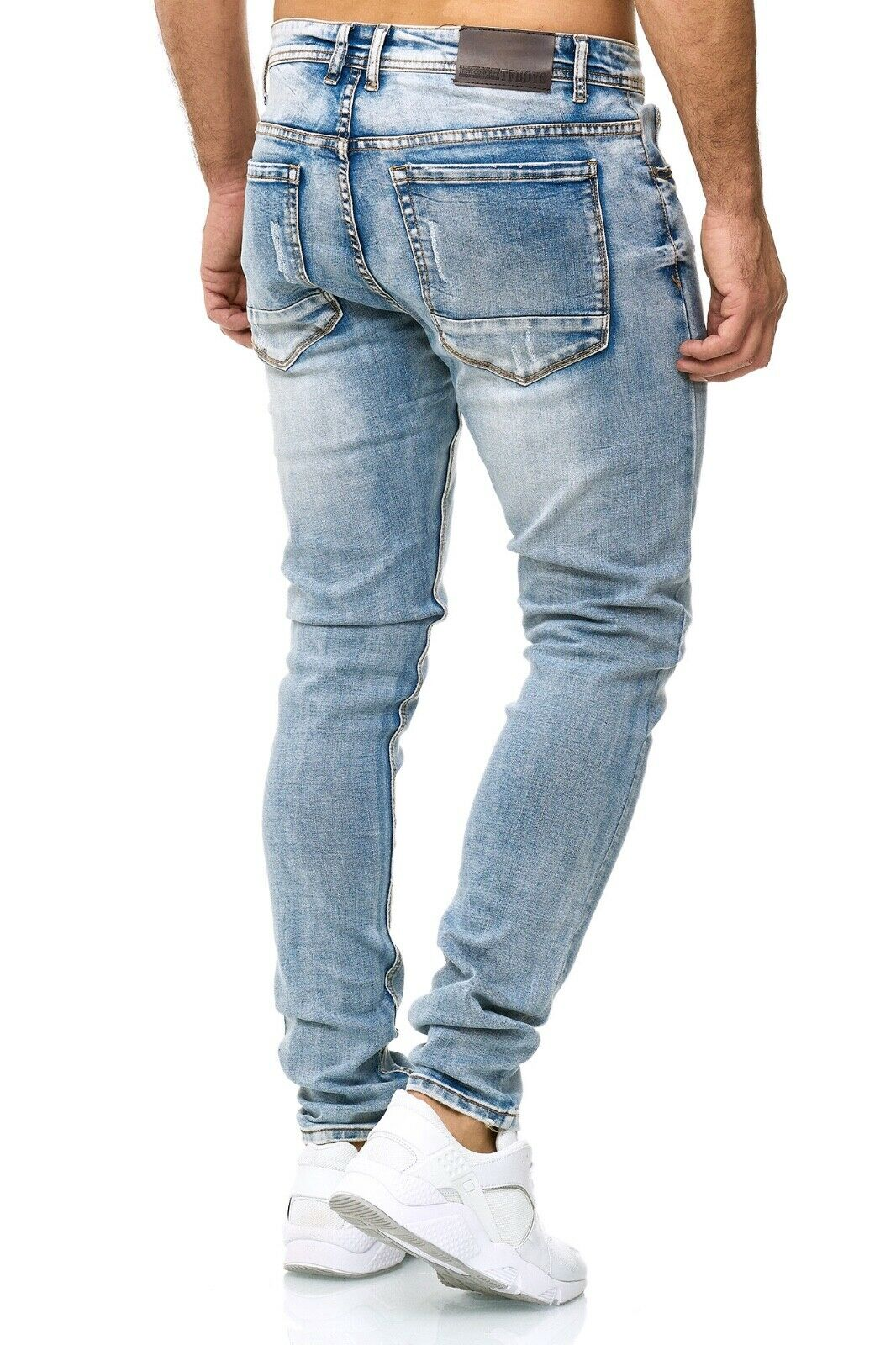 Herren-Jeanshosen-Stretch-Hose-Slim-fit-SKINNY-Jeans-Blau-Schwarz-Grau-Weiss Indexbild 63