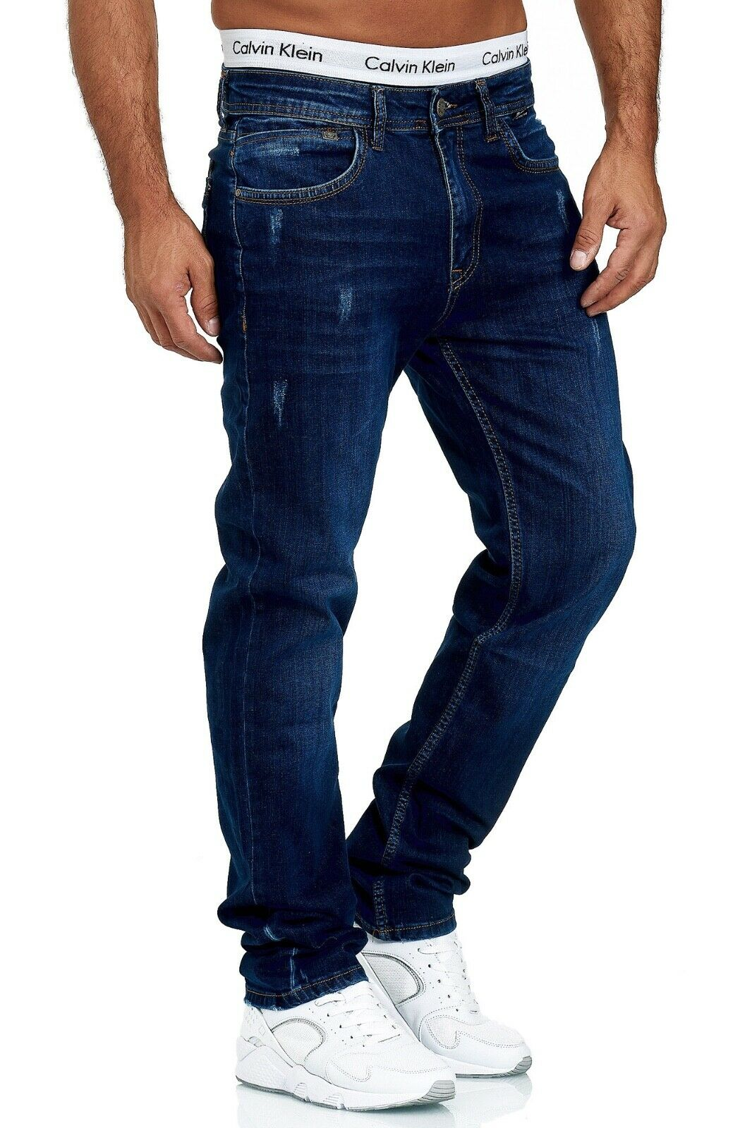 Herren-Jeans-Hose-Denim-KC-Black-Washed-Straight-Cut-Regular-Dicke-Naht-naehte Indexbild 68