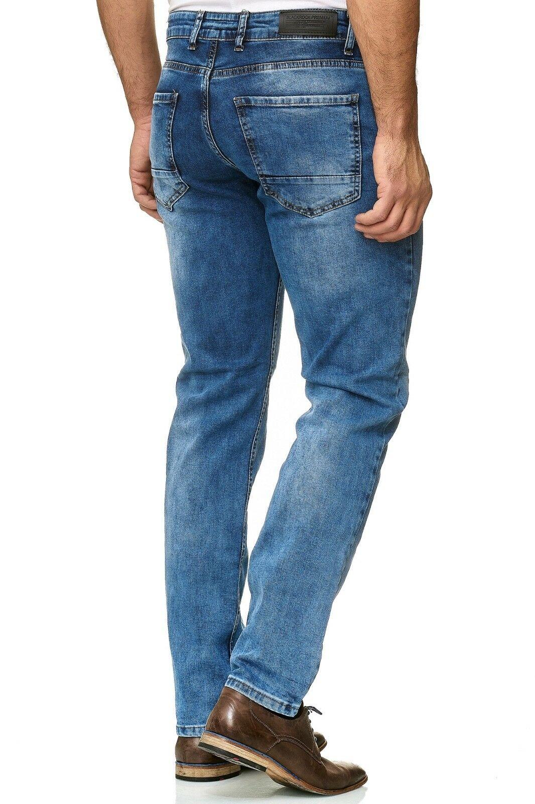 Herren-Jeanshosen-Stretch-Hose-Slim-fit-SKINNY-Jeans-Blau-Schwarz-Grau-Weiss Indexbild 55
