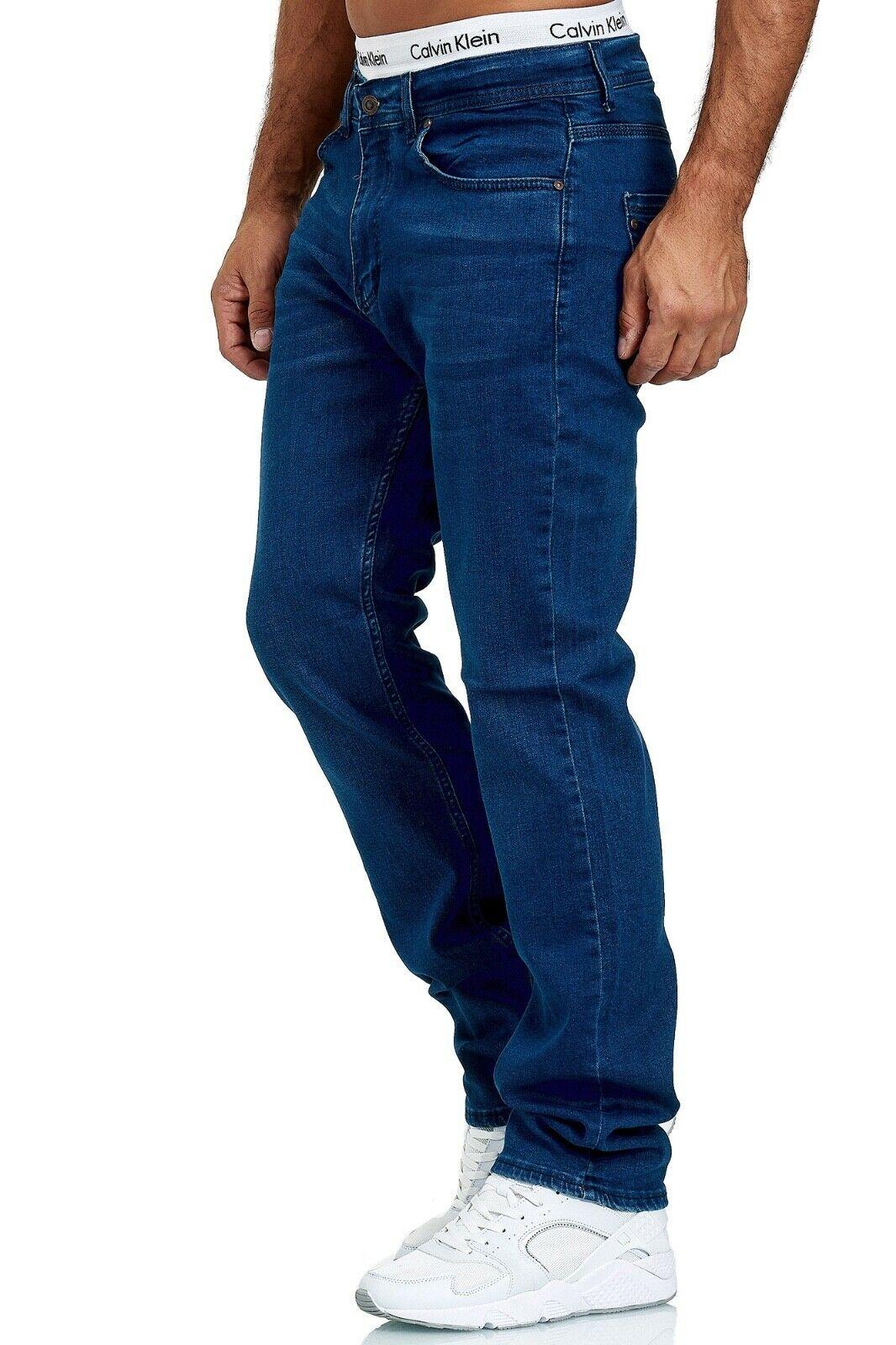 Herren-Jeans-Hose-Denim-KC-Black-Washed-Straight-Cut-Regular-Dicke-Naht-naehte Indexbild 32