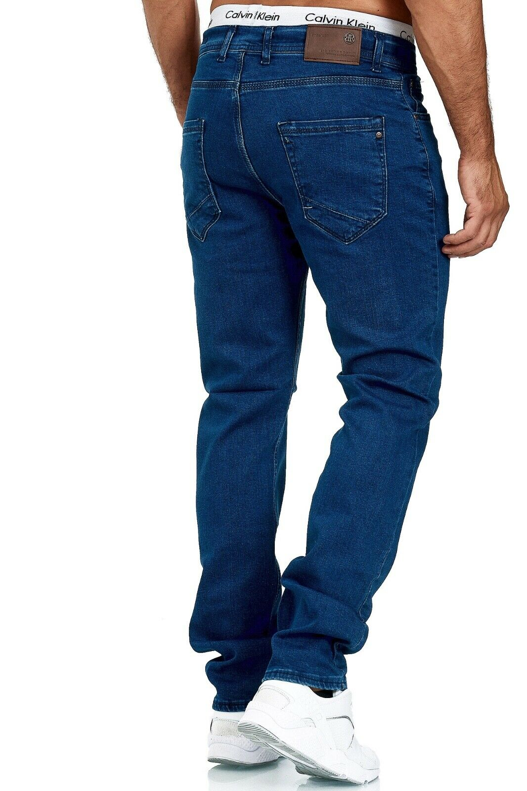 Herren-Jeans-Hose-Denim-KC-Black-Washed-Straight-Cut-Regular-Dicke-Naht-naehte Indexbild 34