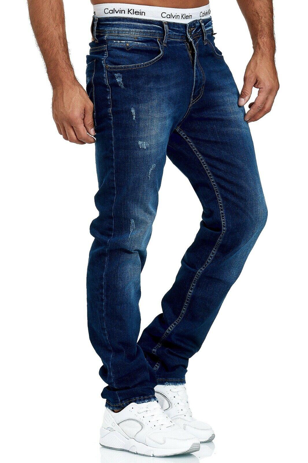 Herren-Jeans-Hose-Denim-KC-Black-Washed-Straight-Cut-Regular-Dicke-Naht-naehte Indexbild 58